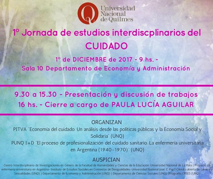 1° Jornada de estudios interdiscplinarios del CUIDADO