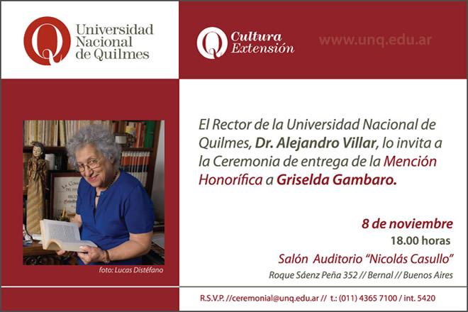 Invitación MH Griselda Gambaro
