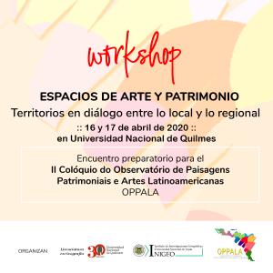 Workshop ESPACIOS DE ARTE Y PATRIMONIO